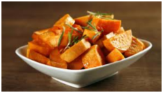 Oven Roasted Sweet Potatoes.