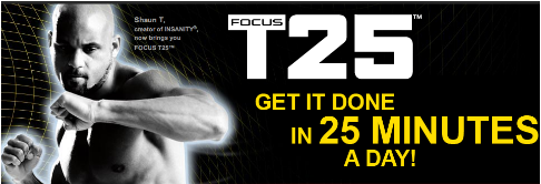 Focus T25 DVD Package.