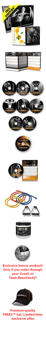 P90X3 Deluxe DVD Package.